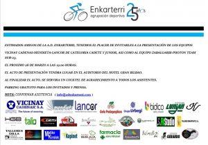 Presentación de los equipos Vicinay Cadenas-Lancor-Mendieta