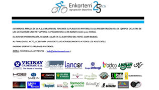 Presentación de nuestro equipo ciclista